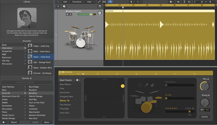 Logic Pro X「Drummer」