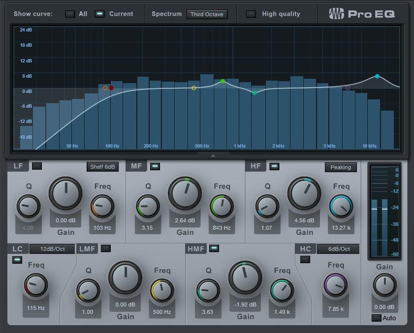 Studio One「Pro EQ」